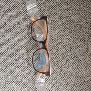 "Two New ""Liz Claiborne"" Tortoise Peach Eyeglasses"